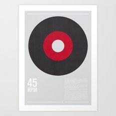 45 RPM Art Print