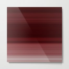 Ruby Red Ombre Stripe Design Metal Print