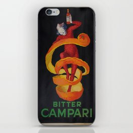 Vintage poster - Bitter Campari iPhone Skin