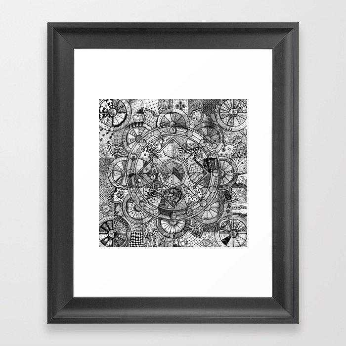 Mandala 4 Framed Art Print