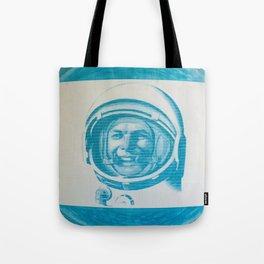 Russian Cosmonaut Poster Tote Bag