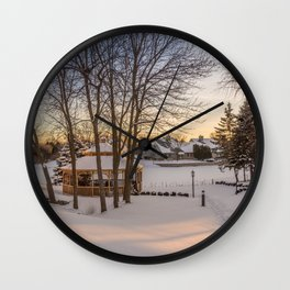 Winter Peace Wall Clock