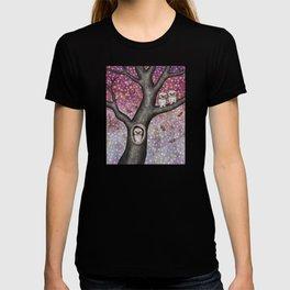 enchanted owls, moths, stars T-shirt