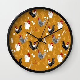 Rooster Roundup Wall Clock