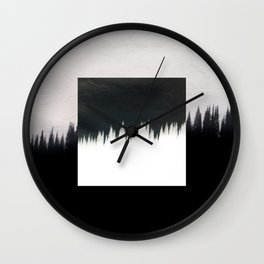 Square - Dark forest Wall Clock