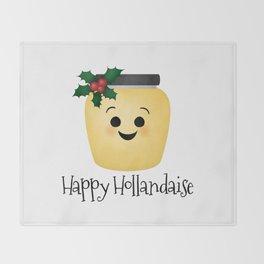Happy Hollandaise Throw Blanket