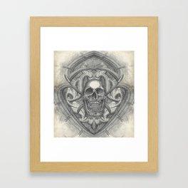 Crossed scythes Framed Art Print