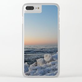 Sea and Ice at Dusk Clear iPhone Case