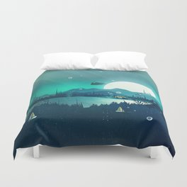 Beneath Barafundle Duvet Cover