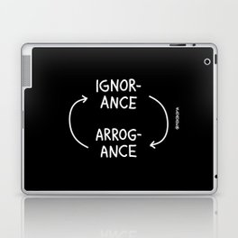Ignorance and Arrogance (White) Laptop & iPad Skin