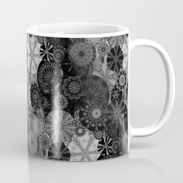 Fancy Sunset Silhouette on a grey day Coffee Mug