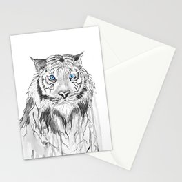 Tiger, black and white Stationery Cards