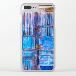 Old Door,Santorini Clear iPhone Case