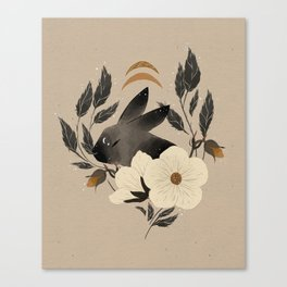 Two Moons Rabbit Canvas Print