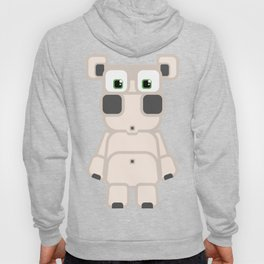 Super cute cartoon white pig - bring home the bacon with everything for the pig enthusiasts! Hoody