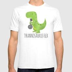 Tyrannosaurus Flex LARGE Mens Fitted Tee White