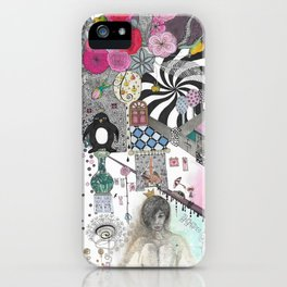 """Flowers""  Illustrated print iPhone Case"