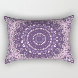 Purple Lace Mandala Rectangular Pillow