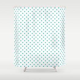 Dots (Eggshell Blue/White) Shower Curtain