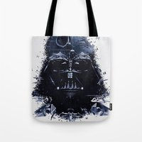 darth vader Tote Bags featuring Darth Vader by qualitypunk
