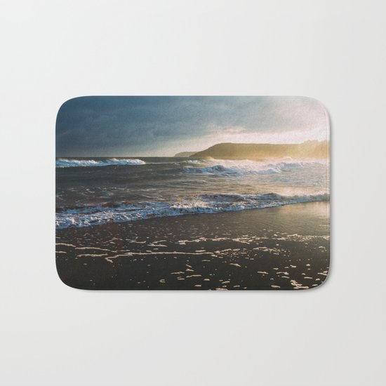 Misty Ocean #sunset Bath Mat