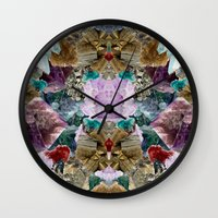 crystal Wall Clocks featuring Crystal by Joanna Tadger