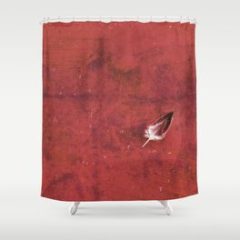 Afloat in a Sea of Red Shower Curtain