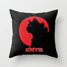 Catzilla Throw Pillow