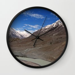 The Chandra River in the Lahaul Valley Wall Clock