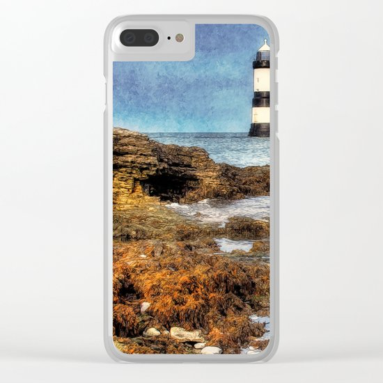 Penmon Lighthouse Clear iPhone Case