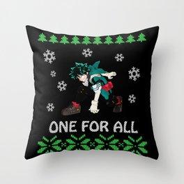 My Hero Academia Ugly Christmas Throw Pillow