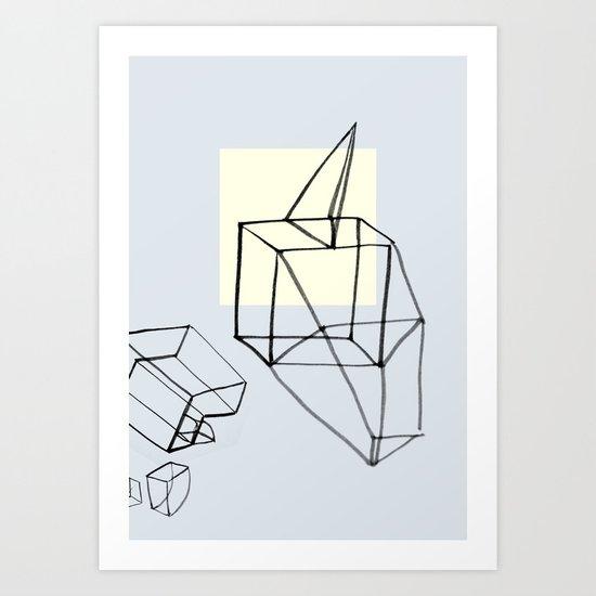 Punk in Paper Art Print