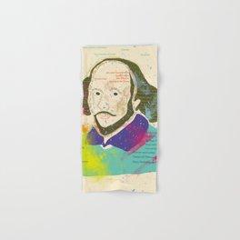 Portrait of William Shakespeare-Hand drawn Hand & Bath Towel