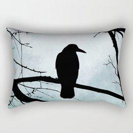 Bird 77 Crow Raven Rectangular Pillow