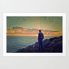 Portugal sunset Art Print