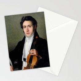 Portait of young Niccolò Paganini Stationery Cards