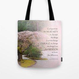Serenity Prayer Cherry Tree One Tote Bag