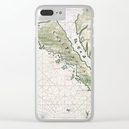 Old Map Of California Island Clear iPhone Case