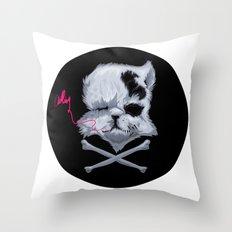 MURDERKITTEN Throw Pillow