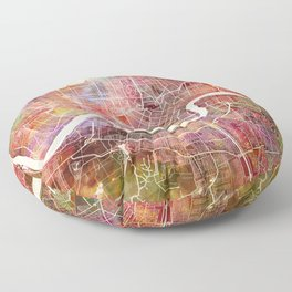 New Orleans map Floor Pillow