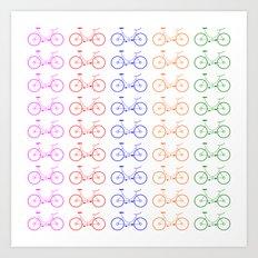 Bike 2, Vector, Design Art Print