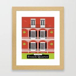 The French Quarter  New Orleans Framed Art Print