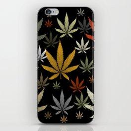 Marijuana Cannabis Weed Pot Leaves iPhone Skin