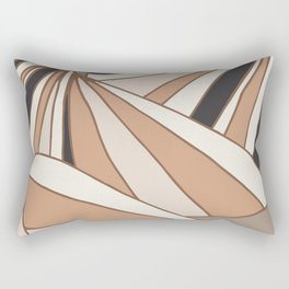 Butterflies Earth tones Rectangular Pillow