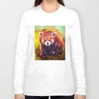 red panda Long Sleeve T-shirts featuring red panda by ururuty