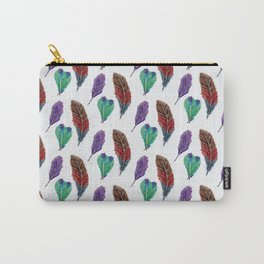 Feather Collection Pattern Carry-All Pouch
