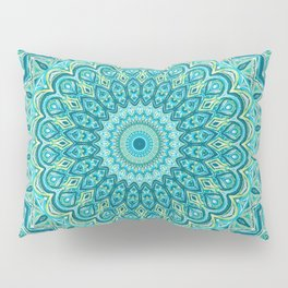 Turquoise Treat - Mandala Art Pillow Sham
