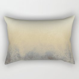 Gradient textured background blue gold beige tones Rectangular Pillow