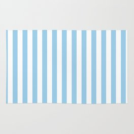 Sky Blue Stripes Rug