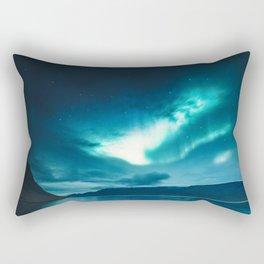 Aurora Borealis (Northern Polar Lights) Rectangular Pillow